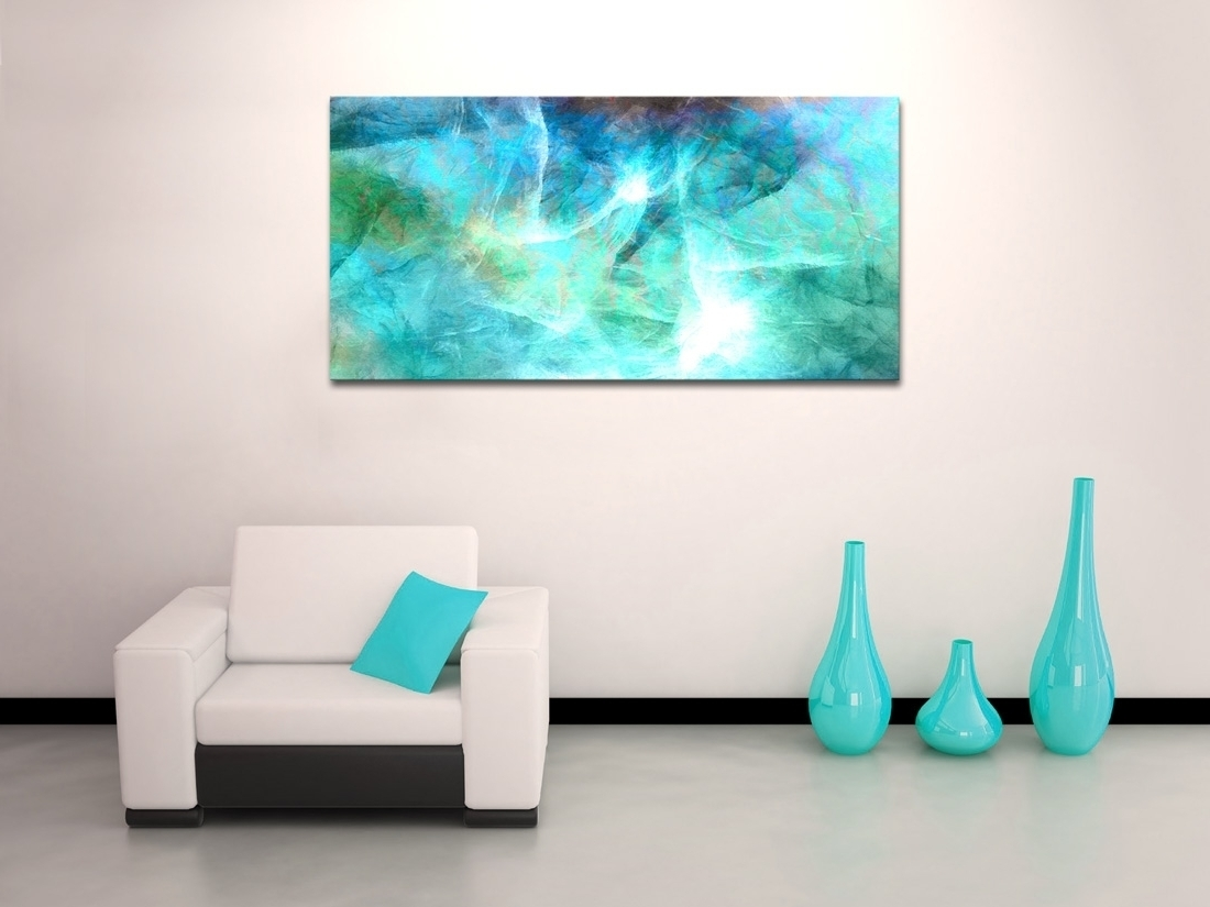 2018 Latest Blue Canvas Abstract Wall Art Intended For Current Blue Canvas Wall Art (Gallery 15 of 15)
