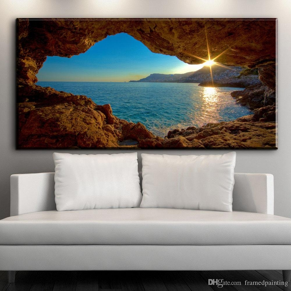 2018 Modern Decorative Canvas Art Prints French Riviera Beautiful Within Newest Framed Canvas Art Prints (View 15 of 15)
