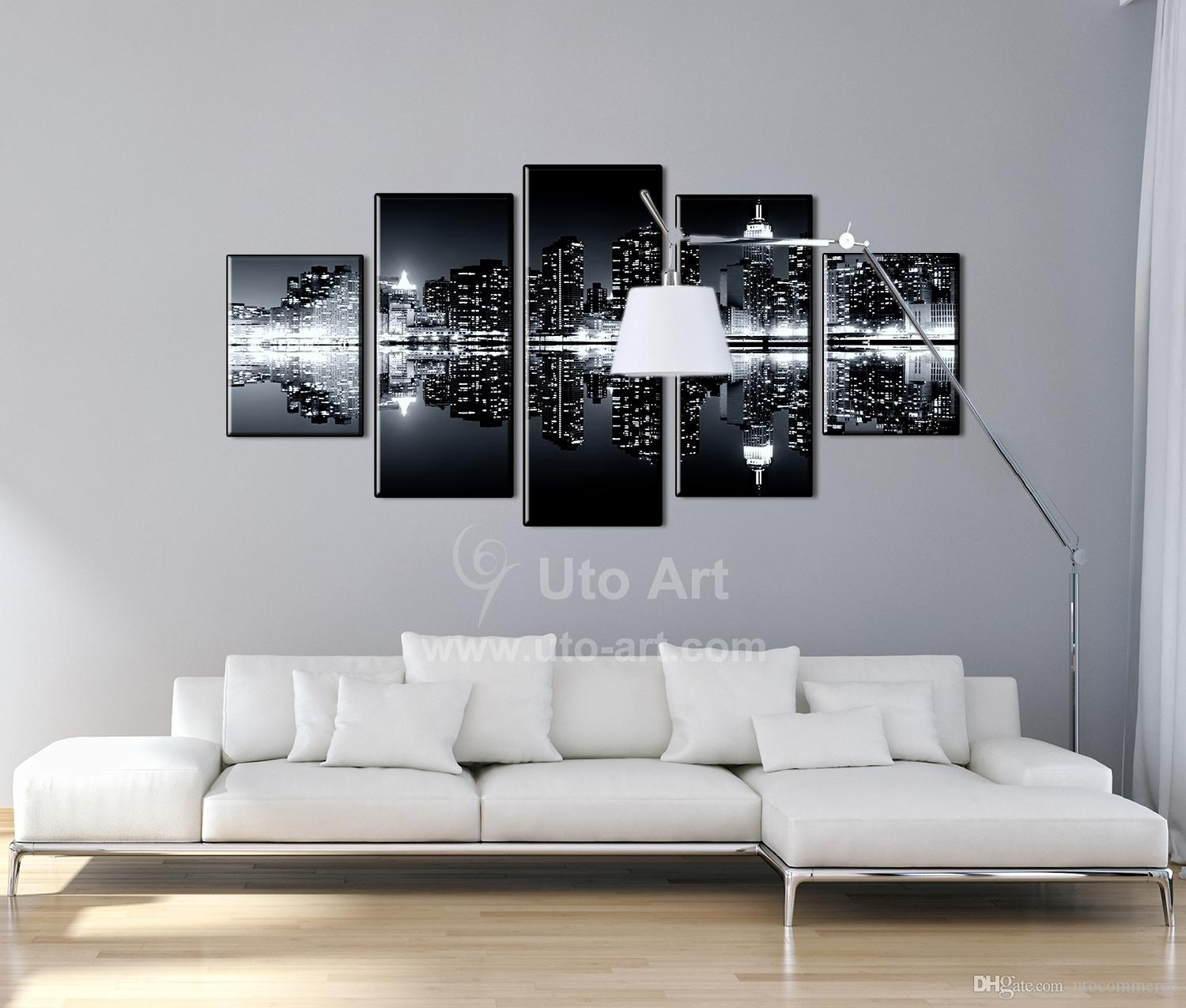 2018 Multi Panel Black Wall Decoration Inverted Image Canvas In 2018 Ku Canvas Wall Art (View 13 of 15)