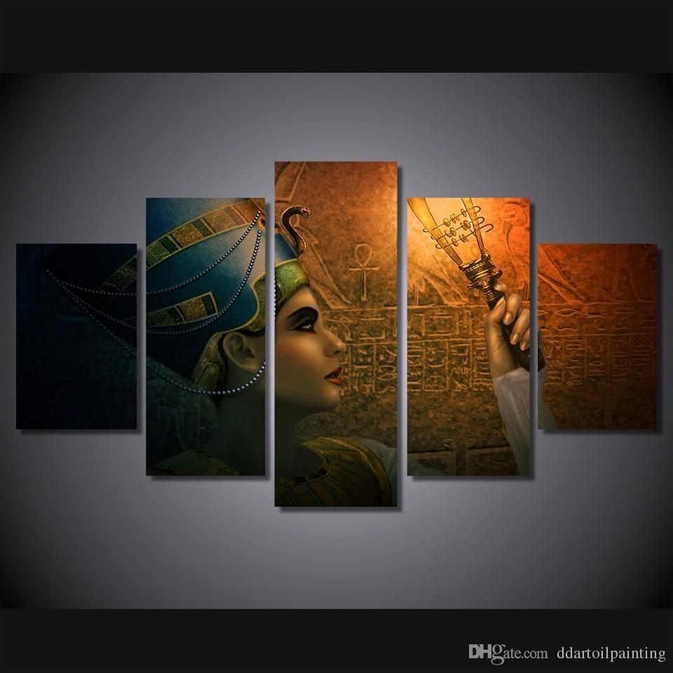 2018 Wholesale Queens Of Egypt Canvas Painting Living Room With Most Up To Date Egyptian Canvas Wall Art (View 4 of 15)