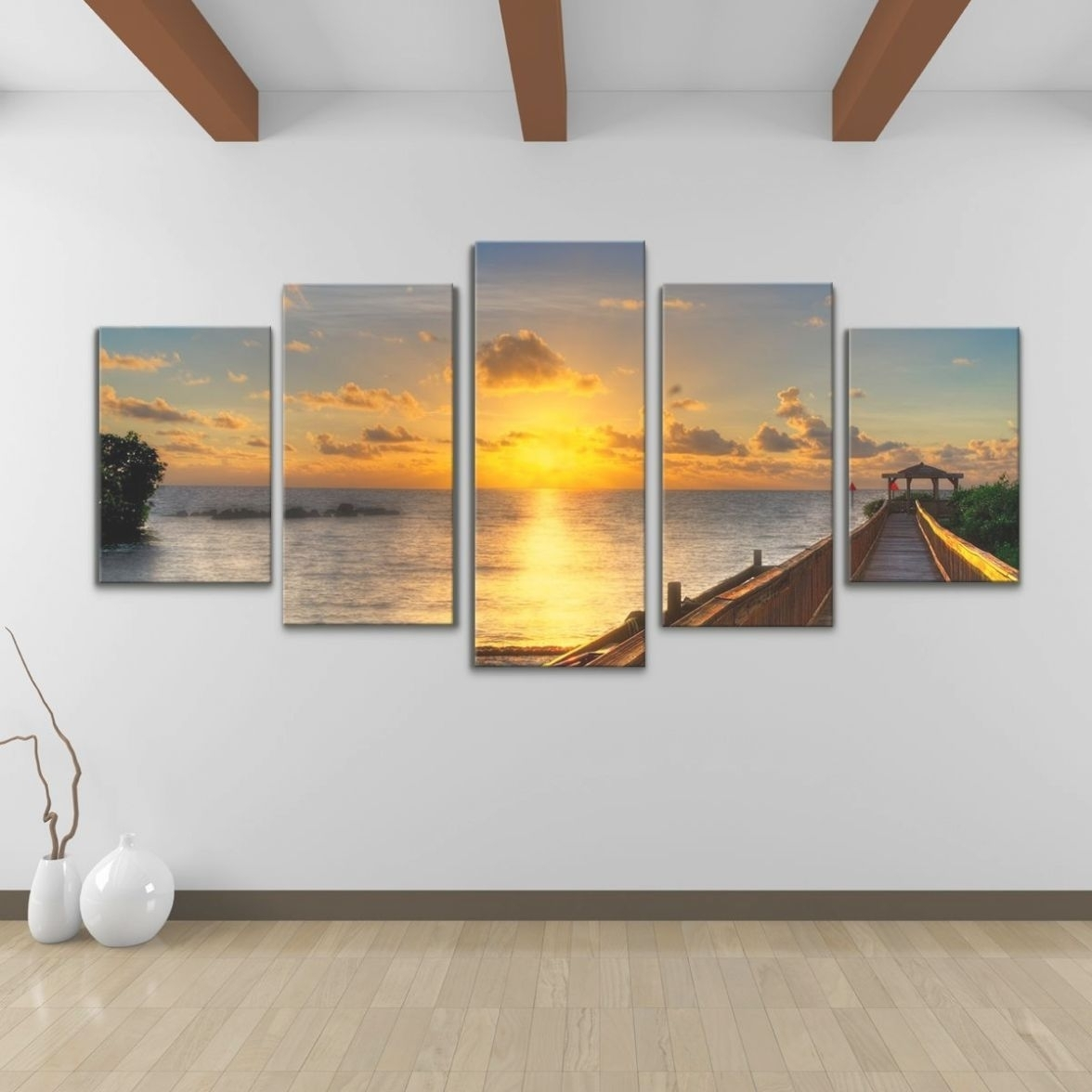 22 Photo Of 5 Piece Canvas Wall Art Inside Most Up To Date Kohls 5 Piece Canvas Wall Art (Gallery 7 of 15)