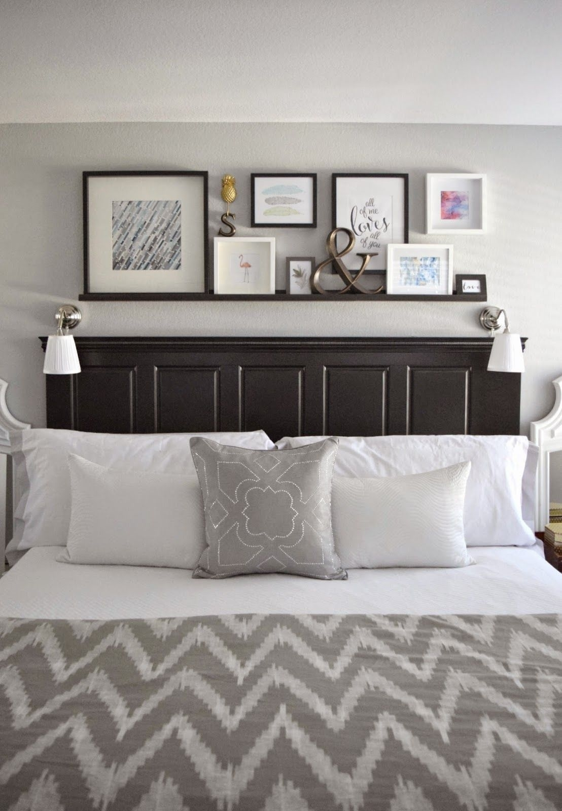 23 Decorating Tricks For Your Bedroom | Bedrooms, Master Bedroom Pertaining To Best And Newest Fabric Wall Art Above Bed (View 1 of 15)