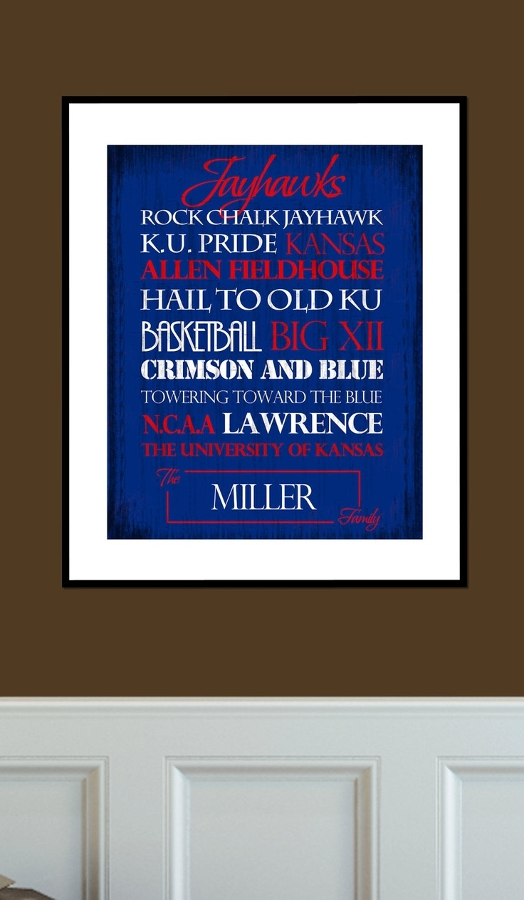 24 Best Kansas Jayhawks Images On Pinterest | Kansas Jayhawks, Ku Intended For Best And Newest Ku Canvas Wall Art (View 5 of 15)