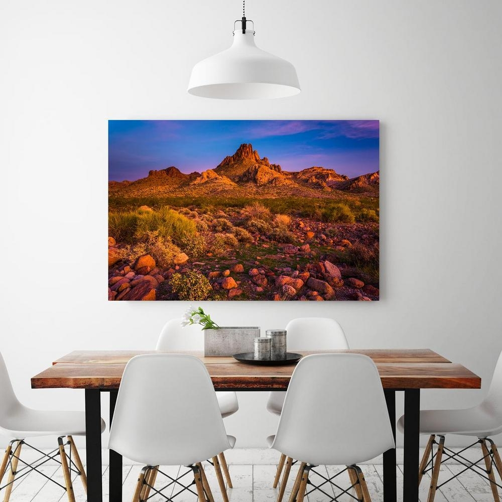 "24 In. X 36 In. ""colorful Desert Sunset In Oatman, Arizona Inside Most Up To Date Arizona Canvas Wall Art (Gallery 2 of 15)"