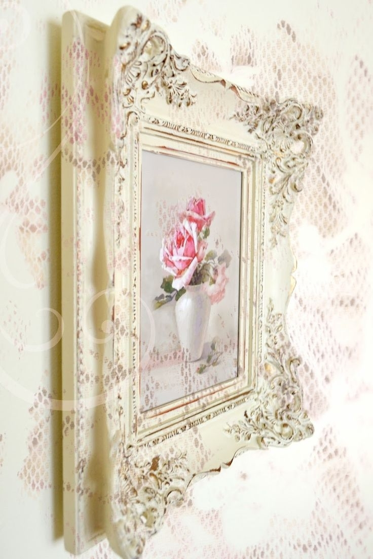 243 Best Art~Romantic Shabby Art Images On Pinterest | Flower Art Pertaining To Best And Newest Shabby Chic Framed Art Prints (View 1 of 15)