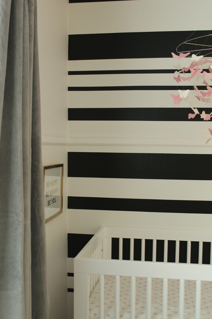 27 Best Painting Ideas Images On Pinterest | Stripe Walls, Child Inside 2018 Horizontal Stripes Wall Accents (View 1 of 15)