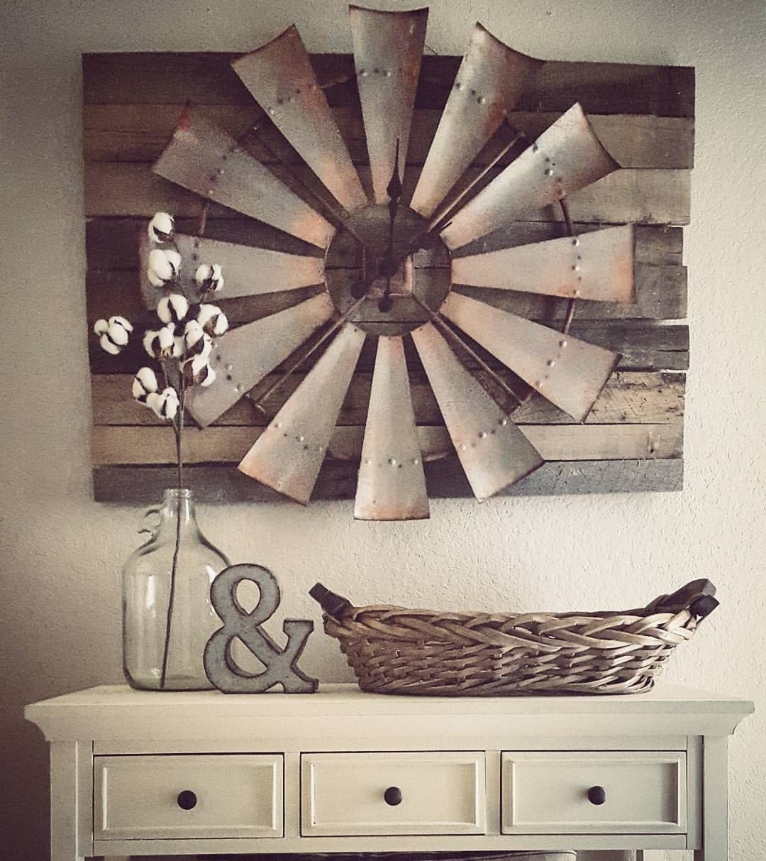 27 Rustic Wall Decor Ideas To Turn Shabby Into Fabulous | Vintage Regarding Most Recent Clock Wall Accents (View 1 of 15)