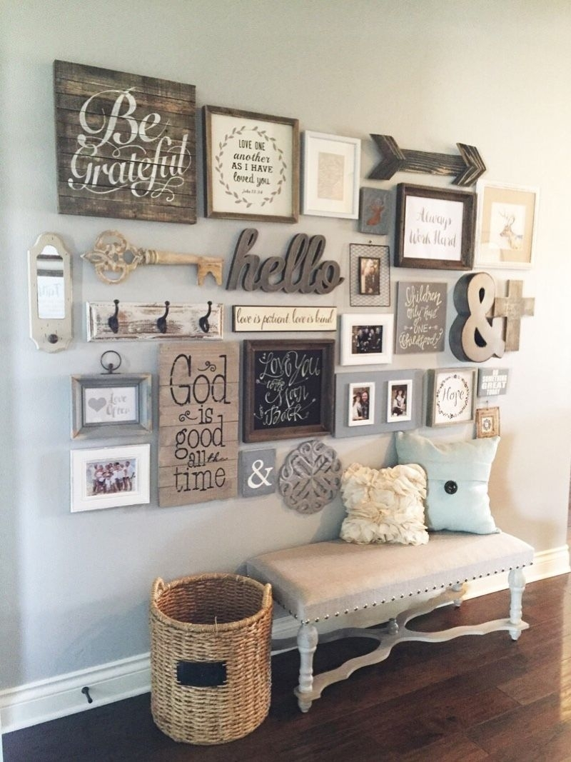 27 Welcoming Rustic Entryway Decorating Ideas That Every Guest Regarding Most Recently Released Entryway Wall Accents (View 7 of 15)