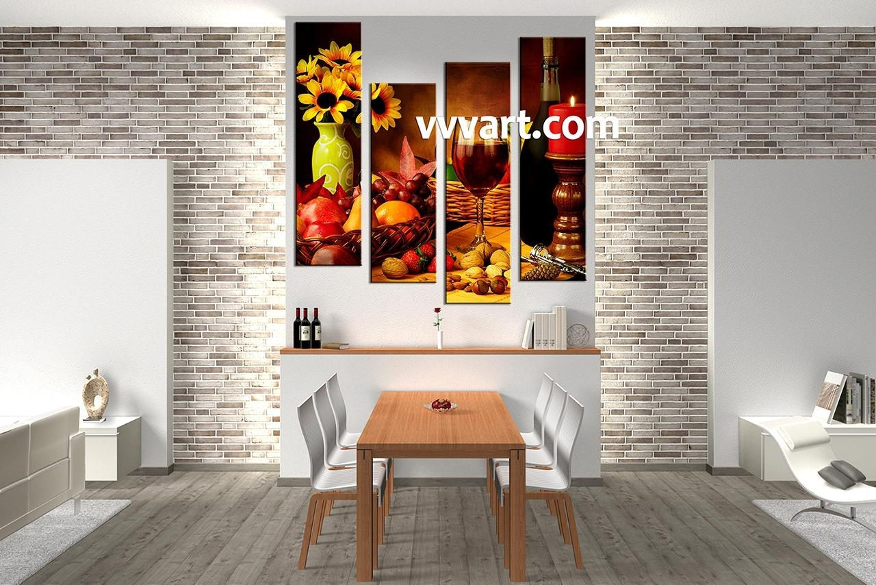 29 Kitchen Canvas Wall Art Dining Room Ideas Trends U2013 Thamani For Latest Canvas  Wall Art