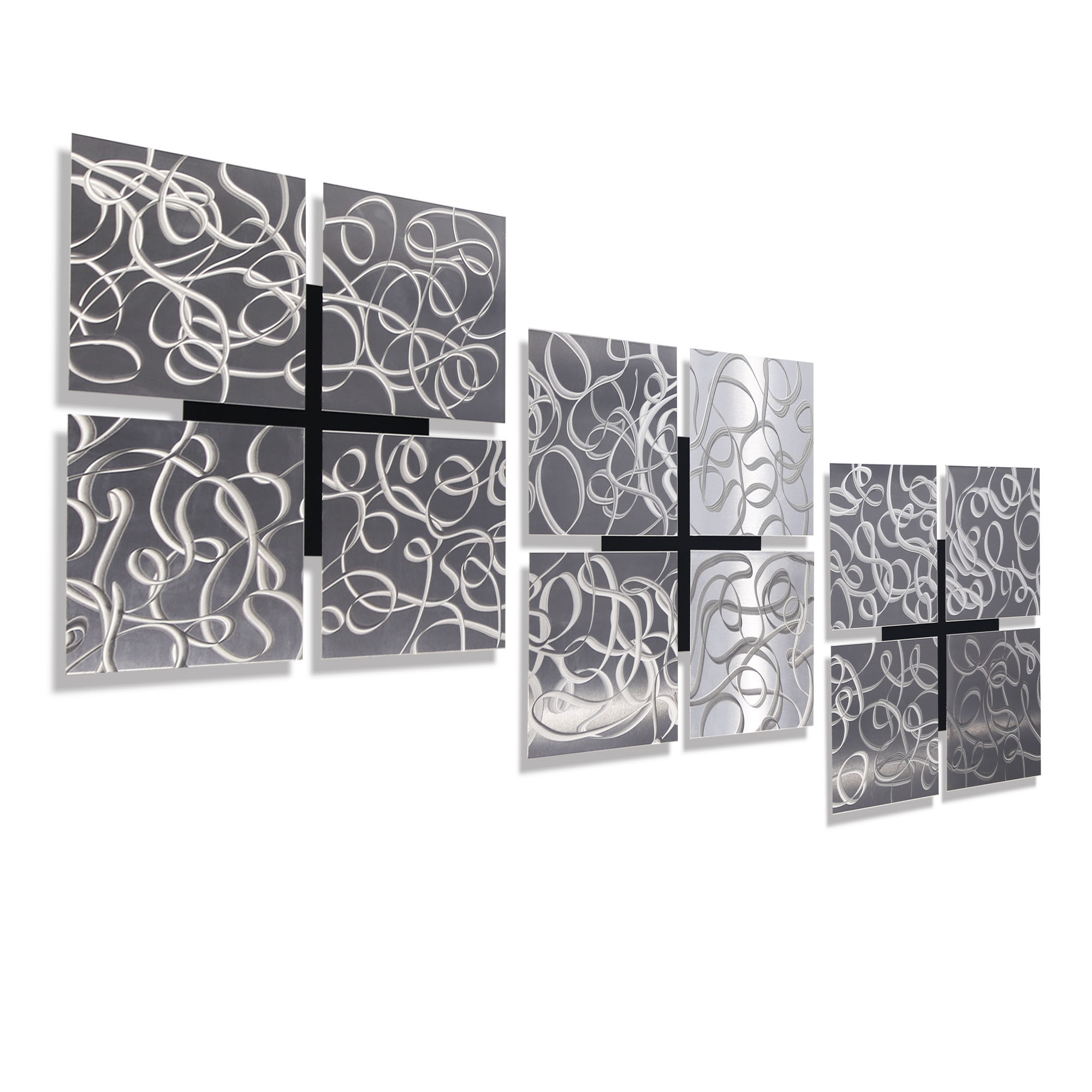 "3 Kings – Silver Set Of Three 12"" X 12"" Metal Wall Art Accents Pertaining To Latest Wall Art Accents (View 9 of 15)"