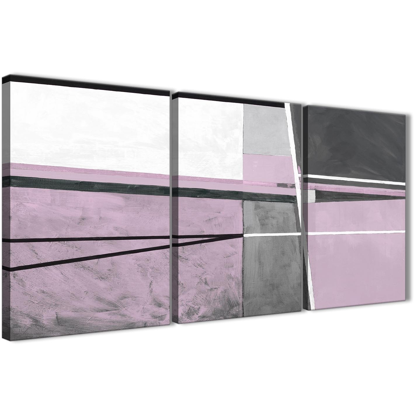 3 Panel Lilac Grey Painting Kitchen Canvas Wall Art Accessories Regarding Best And Newest Lilac Canvas Wall Art (View 1 of 15)