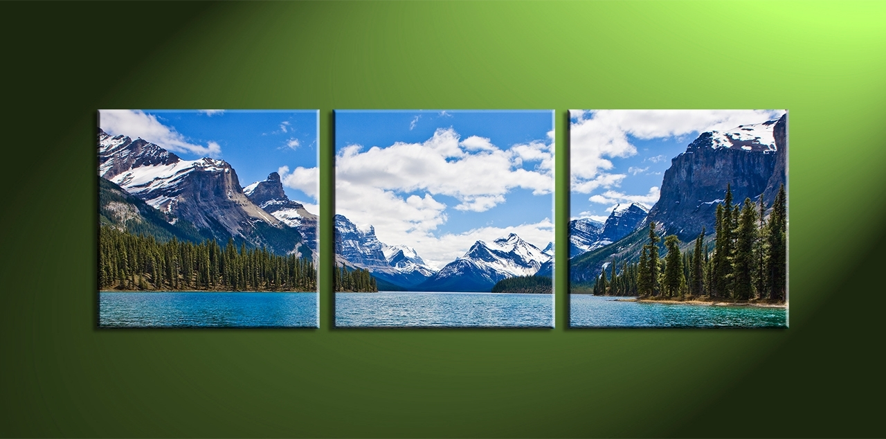 3 Piece Split Canvas – Cherry Blossom throughout Most Recently Released Mountains Canvas Wall Art
