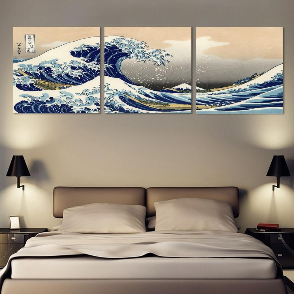 3 Piece Wall Art Japanese Art Painting Canvas Posters And Print Pertaining To Most Recently Released Japanese Canvas Wall Art (Gallery 5 of 15)