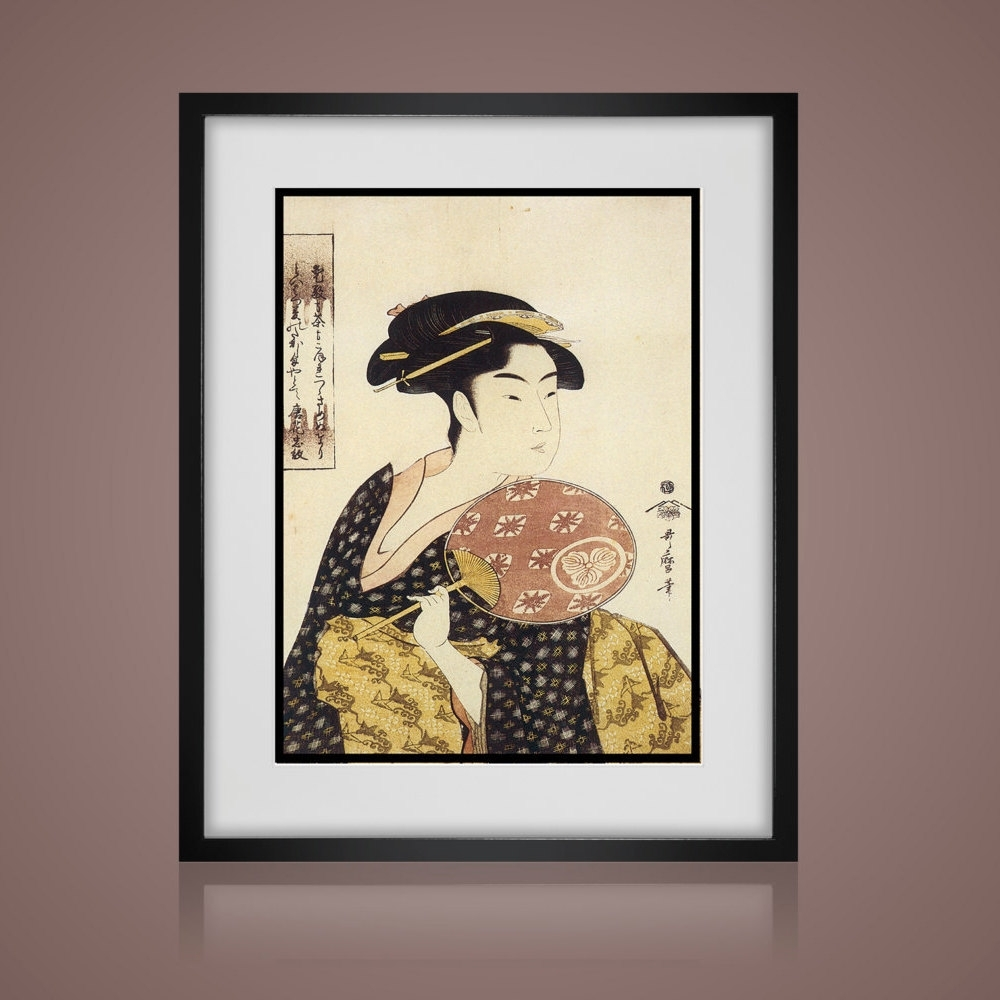 3 Piece Wall Art – Vintage Japanese Prints  Matted And Framed Inside Most Recent Antique Framed Art Prints (View 1 of 15)