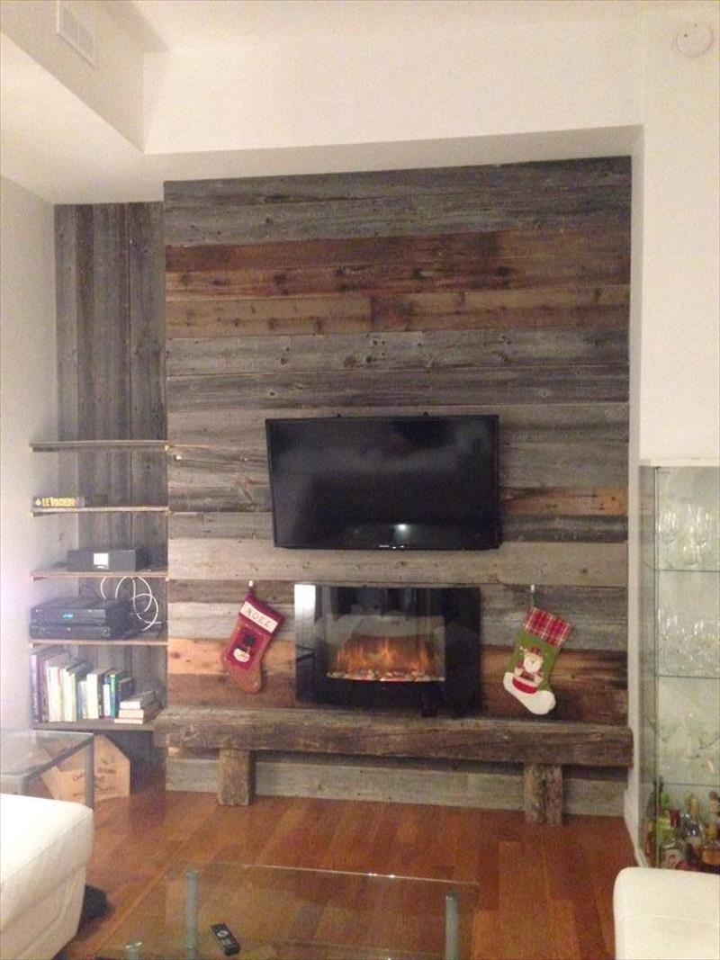 30 Inspiring Accent Wall Ideas To Change An Area | Wall Ideas, Diy With Regard To Most Recently Released Wood Pallets Wall Accents (View 1 of 15)