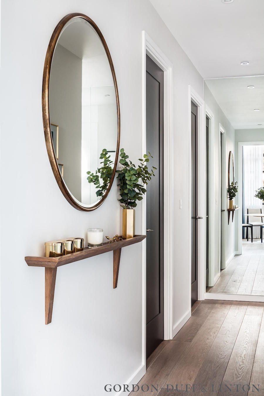 30 Of The Most Pretty & Practical Entryways | Minimal, Shelves And Pertaining To Recent Entrance Wall Accents (View 1 of 15)