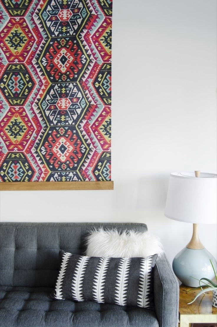 388 Best Home Décor Images On Pinterest With 2018 Diy Large Fabric Wall Art (View 9 of 15)