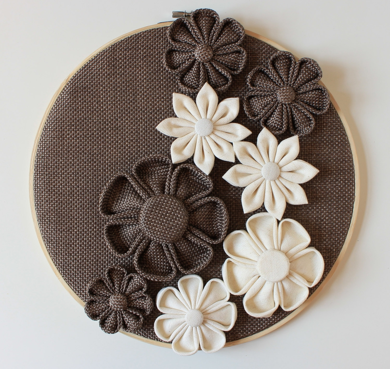 3d Wall Decor Wall Flowers Home Decor Wallneschdecoration With Regard To Recent Fabric Flower Wall Art (Gallery 10 of 15)