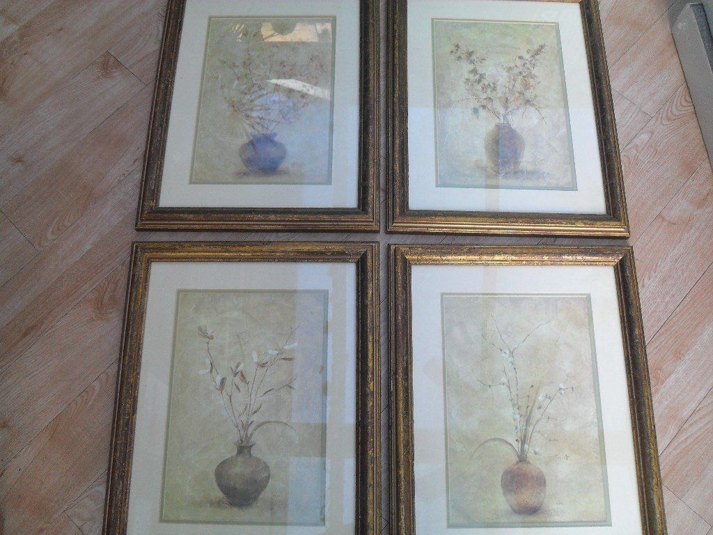 "4 Framed Prints Entitled ""fruit & Flower Blossomscheri Blum Inside Newest Cheri Blum Framed Art Prints (View 1 of 15)"