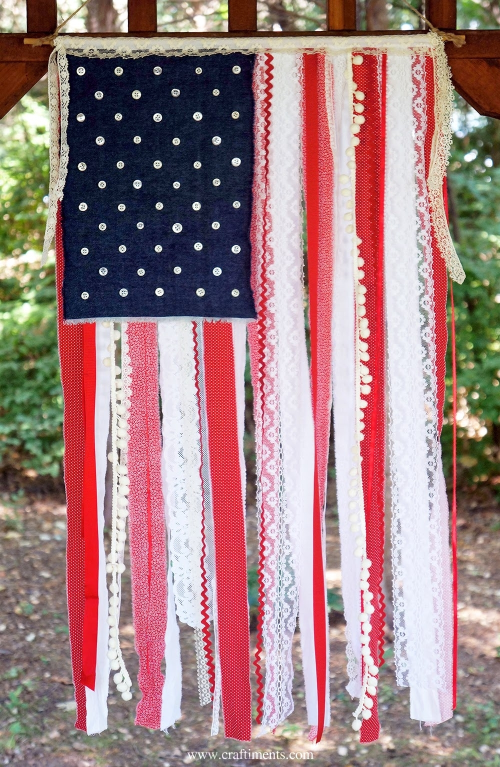 4 Th Of July Crafts, Minnie Mouse And Tmnt. Monday Link Party Throughout 2017 American Flag Fabric Wall Art (Gallery 6 of 15)