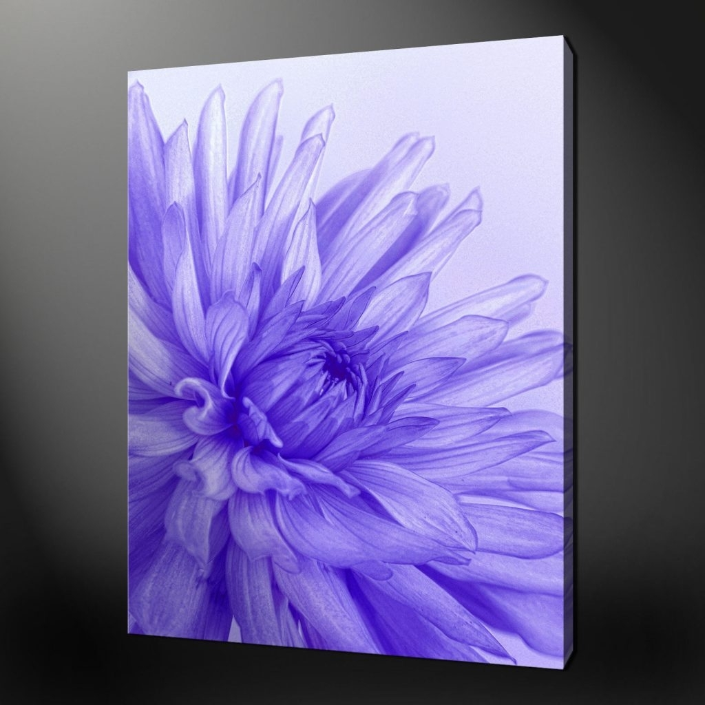 40 Shining Design Purple Flower Wall Art | Panfan Site With Regard To 2017 Lilac Canvas Wall Art (View 2 of 15)