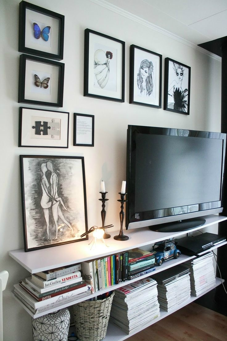 40 Tv Wall Decor Ideas – Decoholic Inside Recent Wall Accents Behind Tv (View 9 of 15)