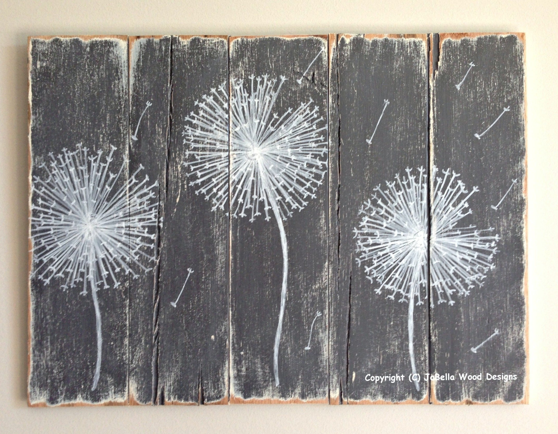 40 Unusual Idea Grey And White Wall Art | Panfan Site With Current Dandelion Canvas Wall Art (View 2 of 15)