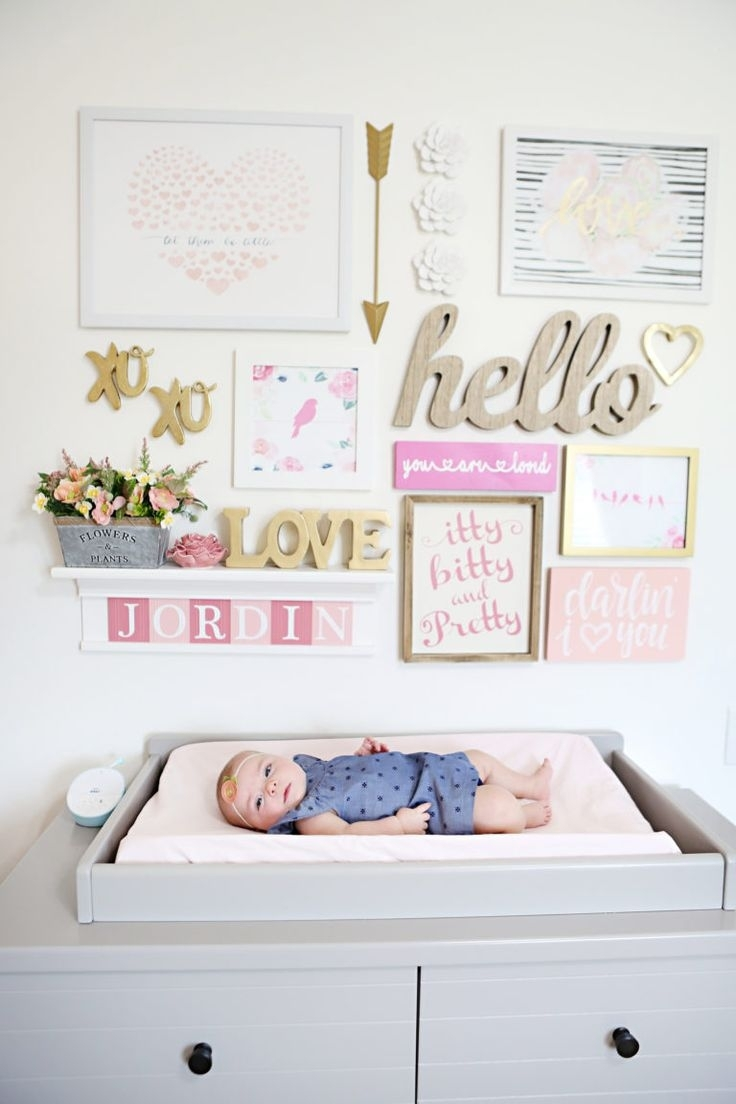 412 Best Gallery Walls Images On Pinterest Within Newest Girl Nursery Wall Accents (View 1 of 15)