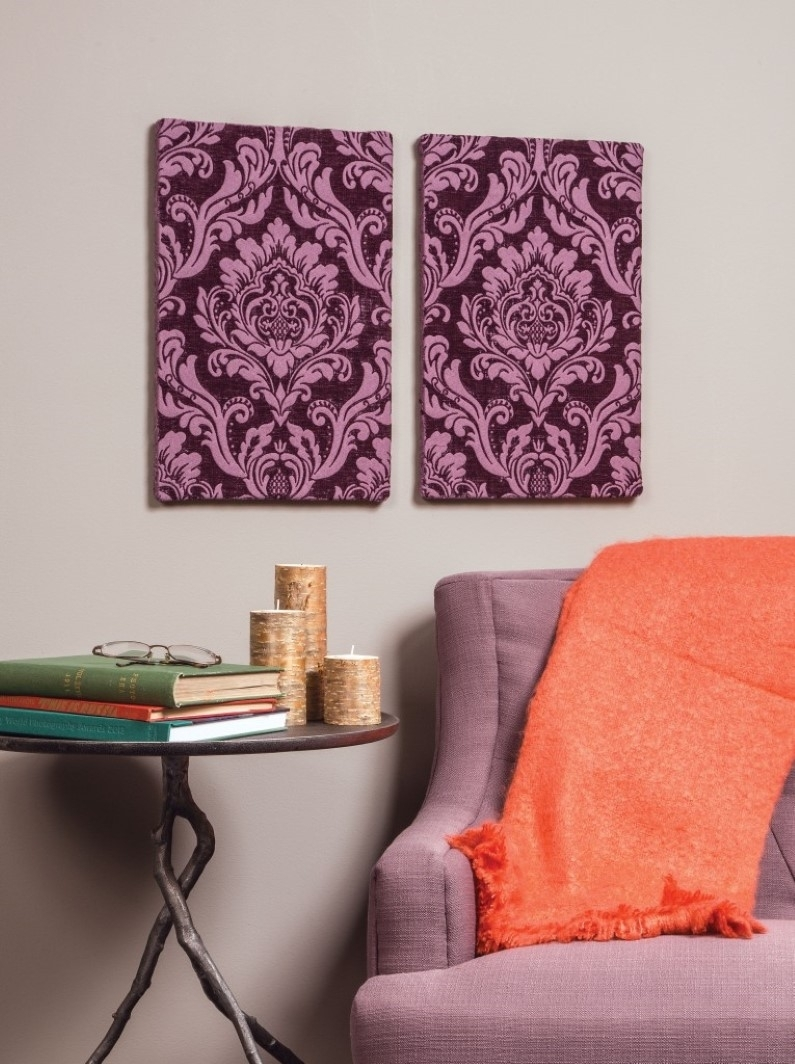 5 Unexpected Ways To Use Fabric In Home Decor Pertaining To Current Stretchable Fabric Wall Art (View 3 of 15)