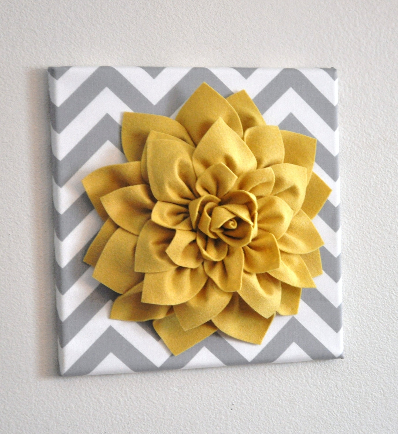 2018 Best of Diy Fabric Flower Wall Art