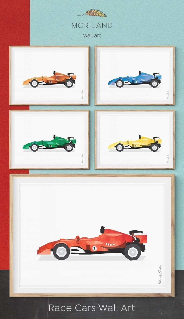 51 Best Dinosaurs Nursery Inspiration Images On Pinterest Intended For Most Current Cars Theme Canvas Wall Art (View 1 of 15)