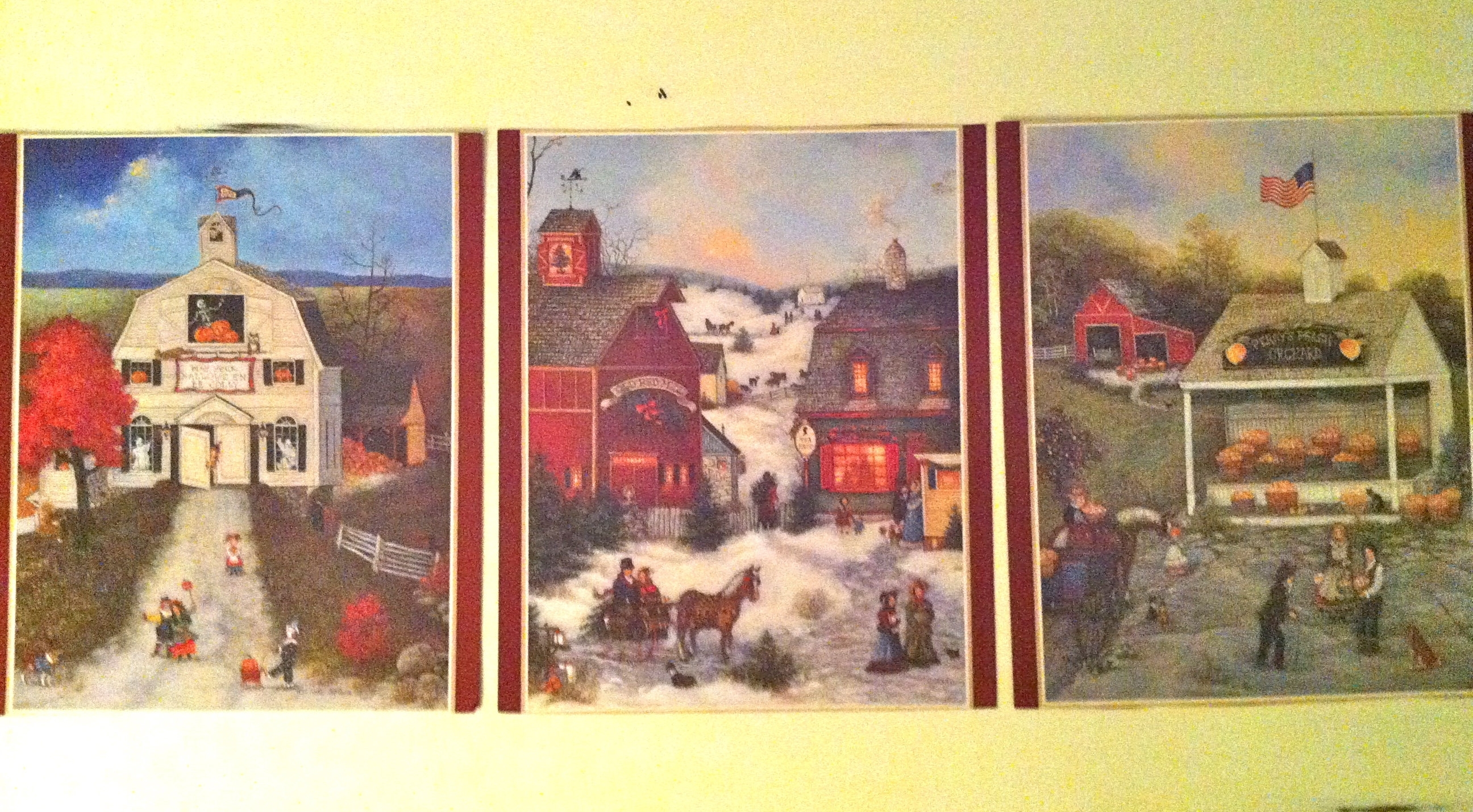 6 Prints Two Sided – Americana Primitive Art Prints/set Of Inside Recent American Folk Art Framed Prints (View 10 of 15)