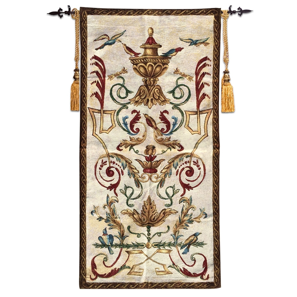 60X120Cm Wall Tapestry Belgium Wall Hanging Tapestry Fabric Regarding Most Popular Moroccan Fabric Wall Art (View 5 of 15)