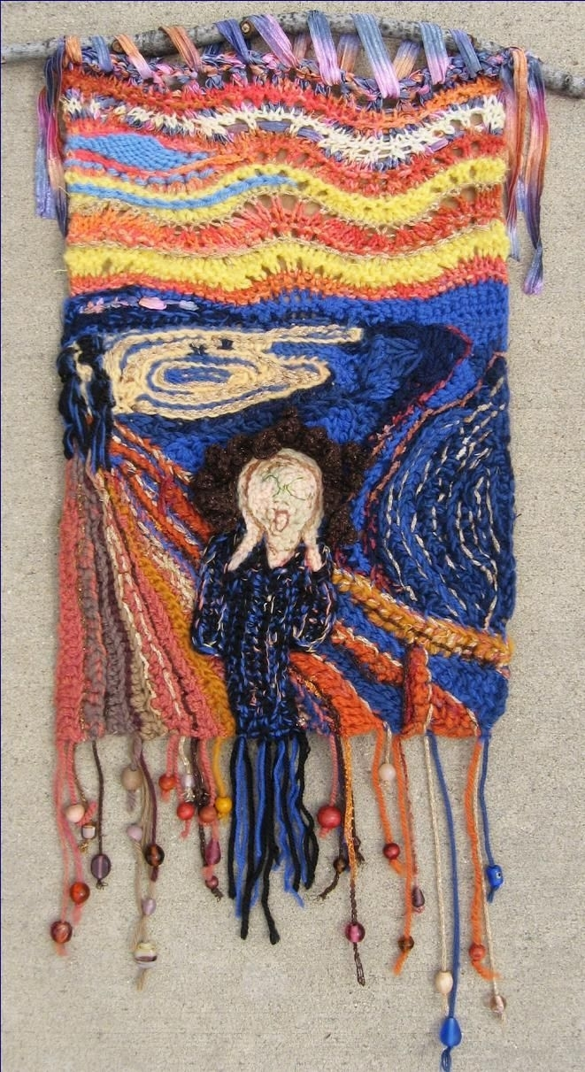 71 Best Fiber Art  Knitting And Crochet Images On Pinterest Throughout Newest Stretchable Fabric Wall Art (View 7 of 15)