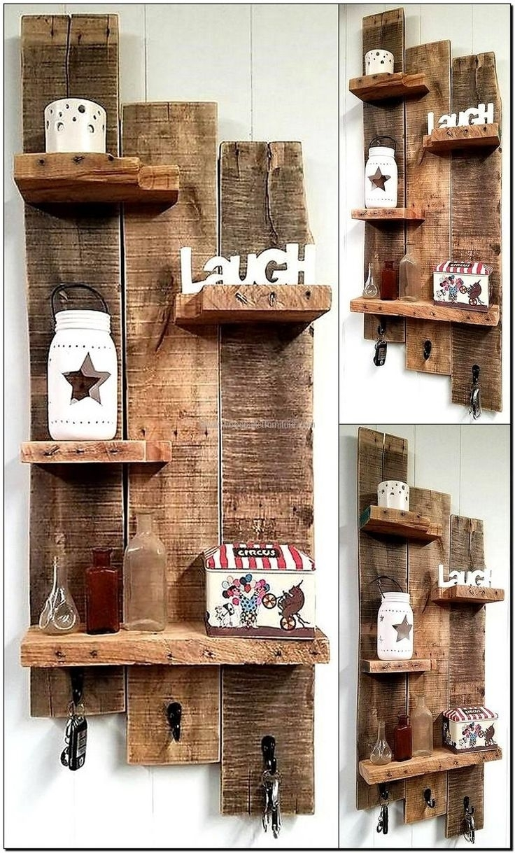 874 Best Pallet Shelves Images On Pinterest | Pallet Projects Pertaining To Latest Wall Accents Made From Pallets (View 4 of 15)