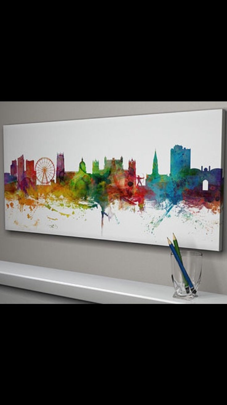 9 Best Skyline Paintings Images On Pinterest | Cities, Canvas Art Within Current Nottingham Canvas Wall Art (Gallery 10 of 15)