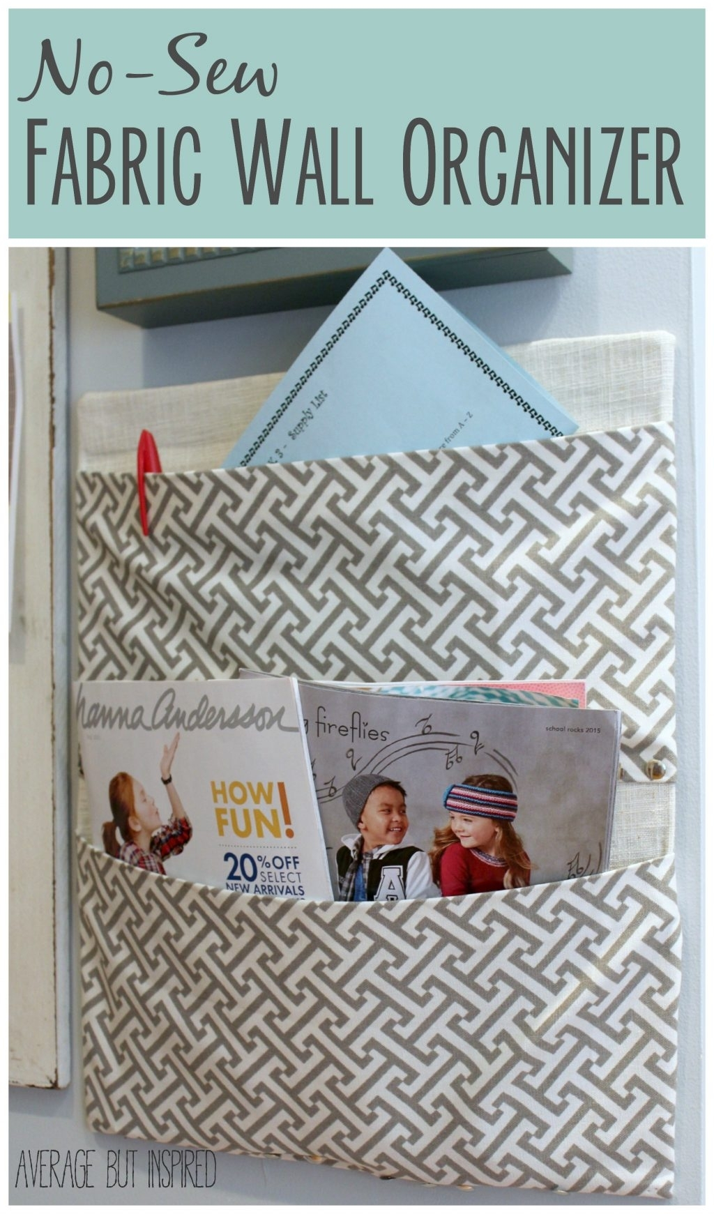 A Diaper Box Becomes A No Sew Fabric Wall Organizer Intended For Latest No Sew Fabric Wall Art (View 7 of 15)