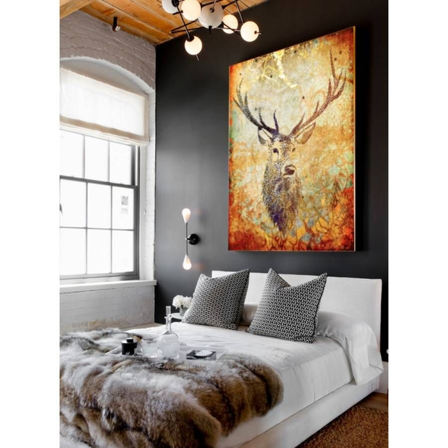 A Striking Piece Of Ready To Hang Canvas Art, Titled Deer Hunter Pertaining To 2018 Deer Canvas Wall Art (View 4 of 15)