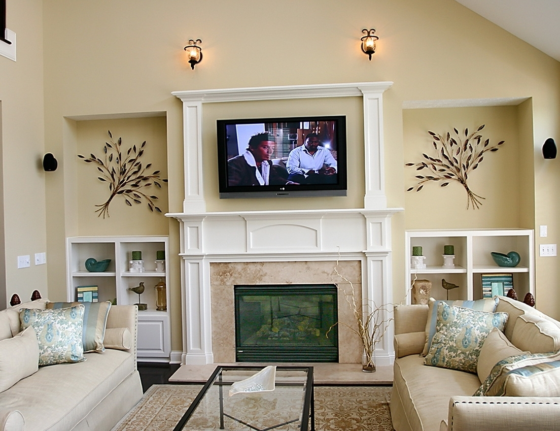 Above Fireplace Wall Decor | Home Design Ideas With Regard To Most Popular Fireplace Wall Accents (View 1 of 15)