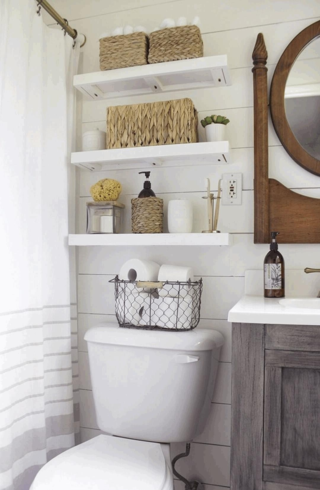 Above Toilet Storage Stainless Steel High Faucetexuberance White Regarding Most Recent Wall Accents Behind Toilet (View 3 of 15)