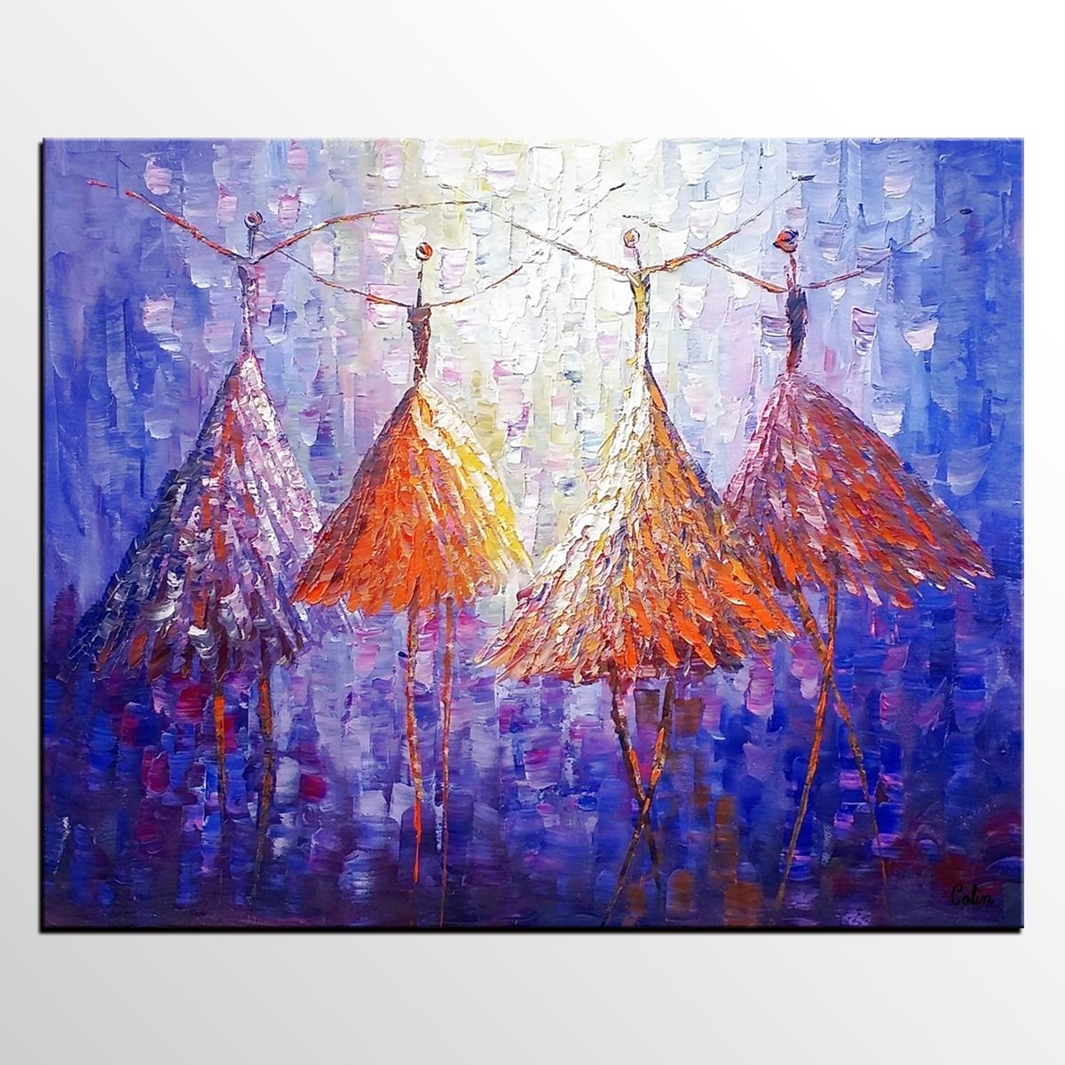 Abstract Art, Ballet Dancer Painting, Oil Painting, Abstract Pertaining To Best And Newest Dance Canvas Wall Art (View 3 of 15)