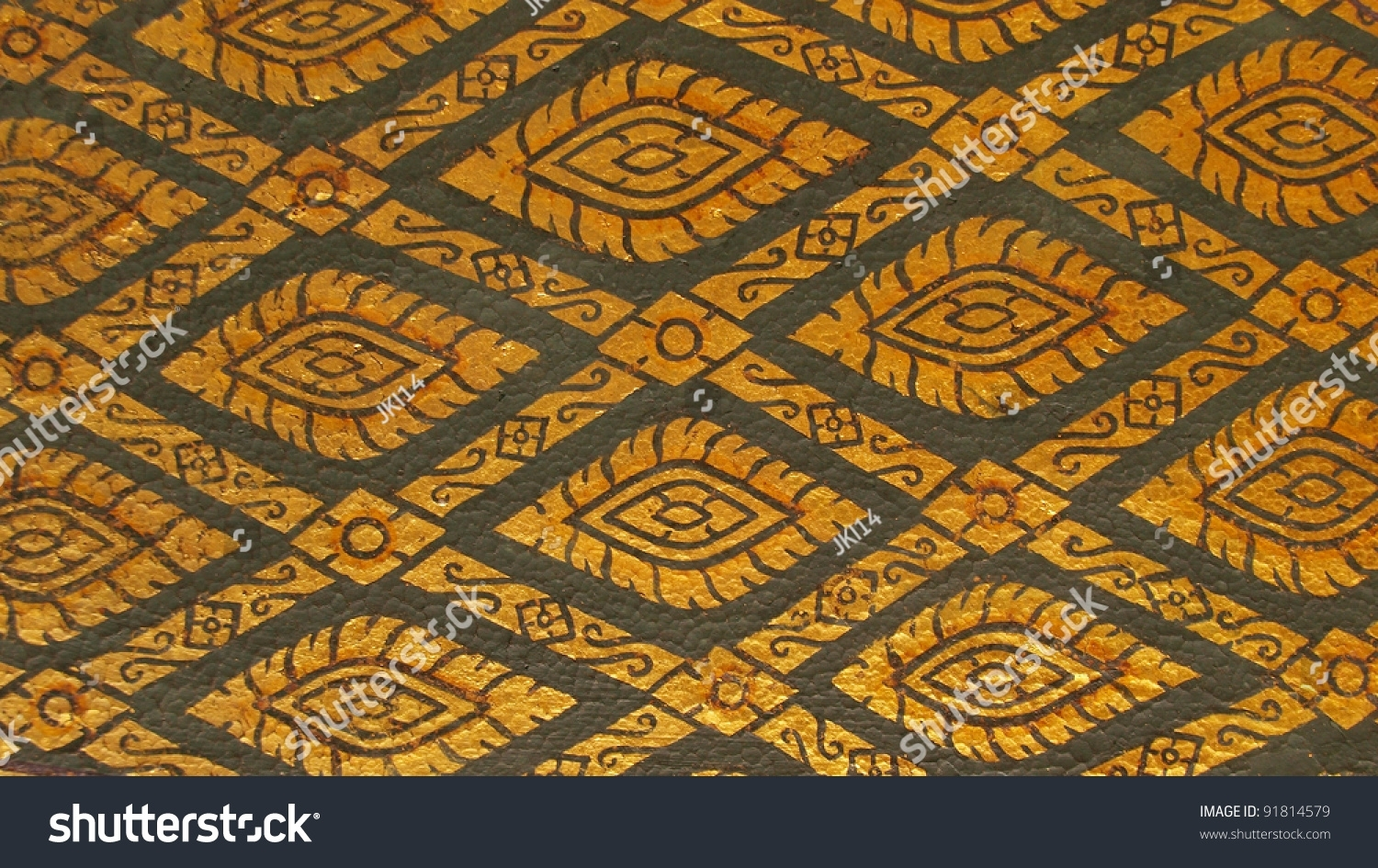 Abstract Art Wall Art Painting Temple Stock Photo 91814579 In Latest Thai Fabric Wall Art (View 1 of 15)
