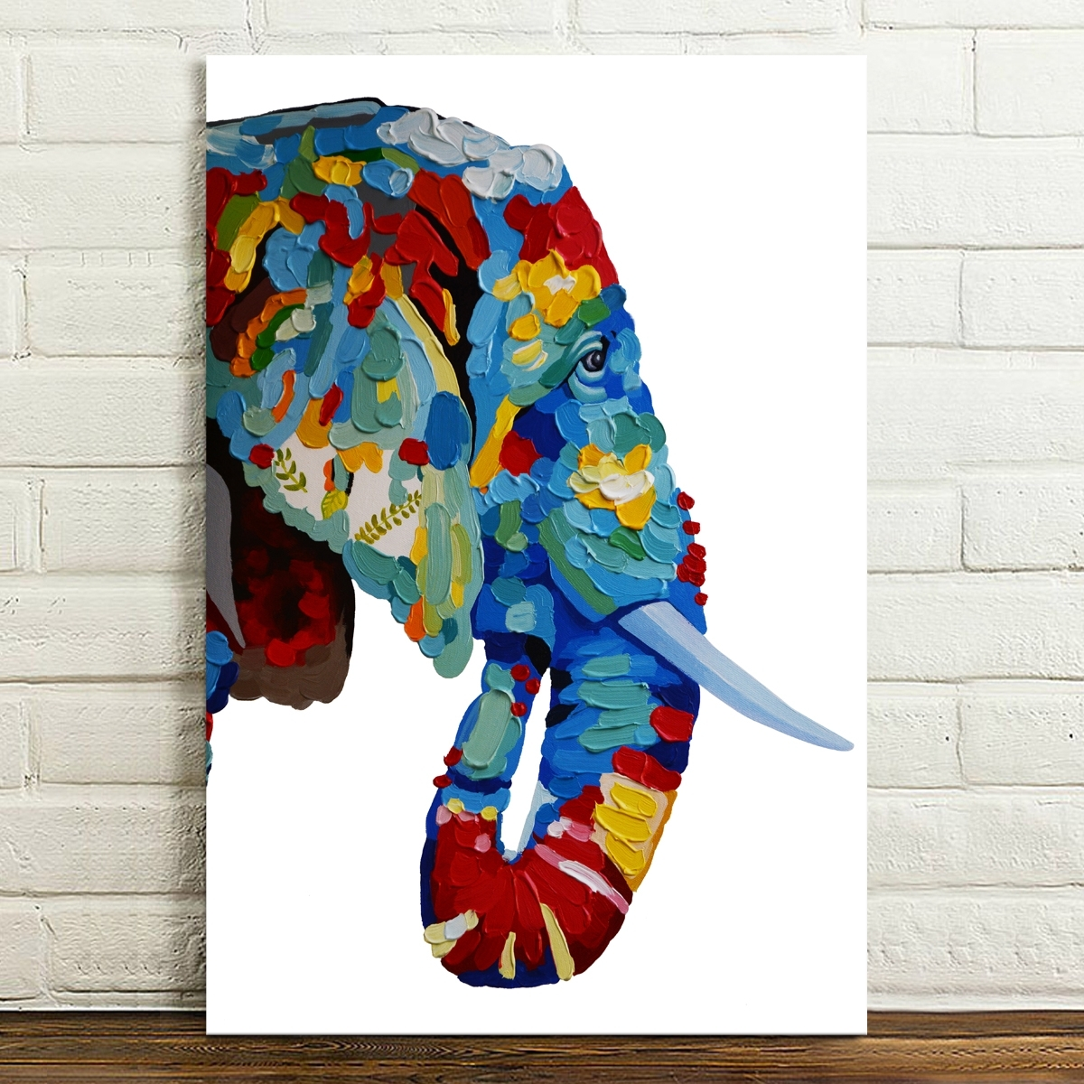 Abstract Canvas Prints Elephant Paintings Posters Home Decor Wall Regarding Most Up To Date Abstract Textile Wall Art (View 1 of 15)