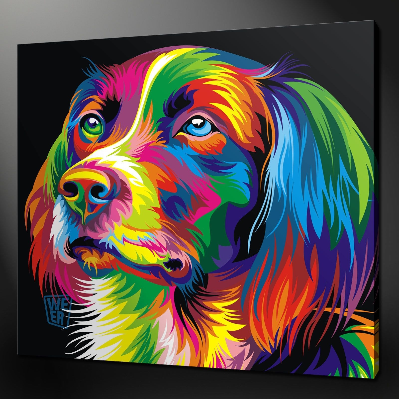 Abstract Dog Paintings | More Of Animal Canvas Wall Art Cuisine Pertaining To Best And Newest Dogs Canvas Wall Art (View 3 of 15)