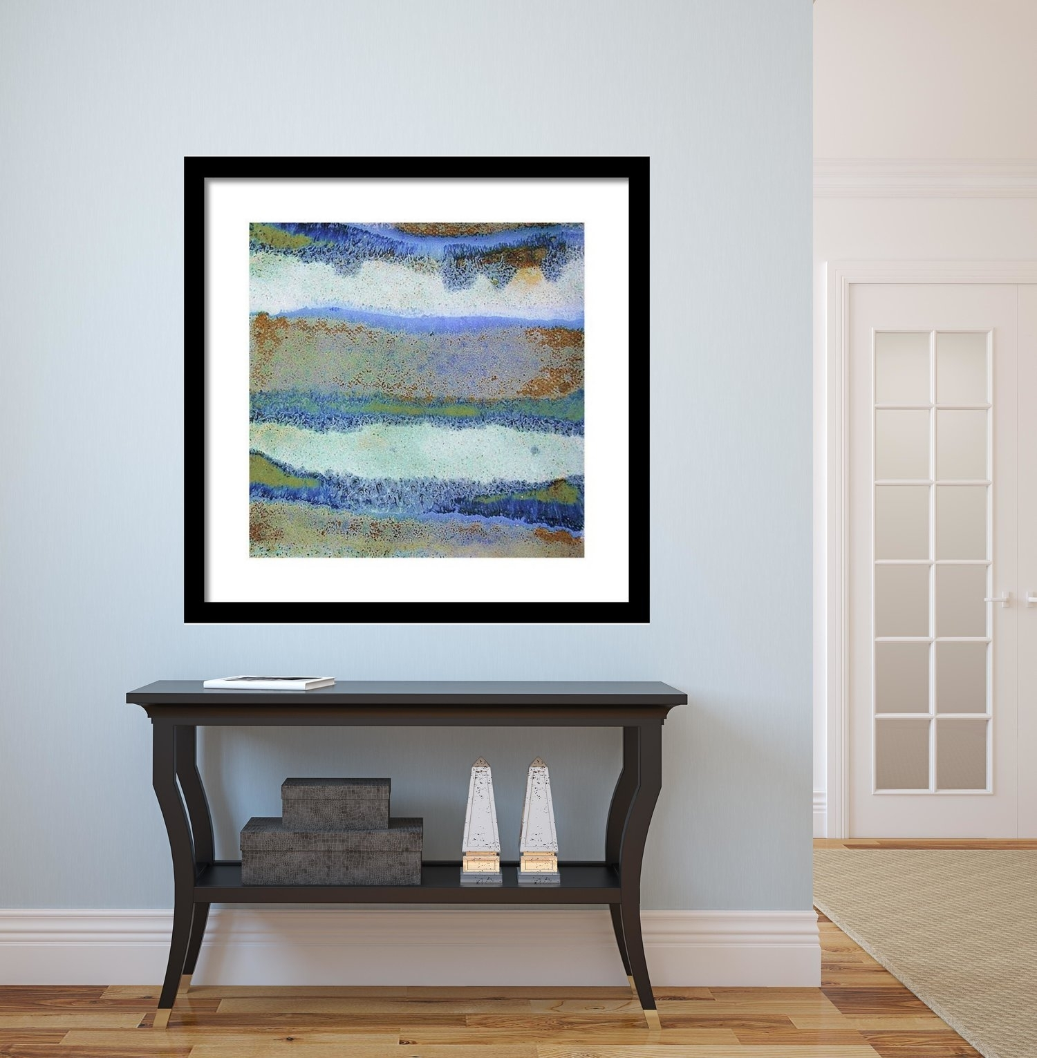 Abstract Framed Wall Art – Square #33 | Modern Wall Art, Blue For Latest Abstract Framed Art Prints (View 2 of 15)