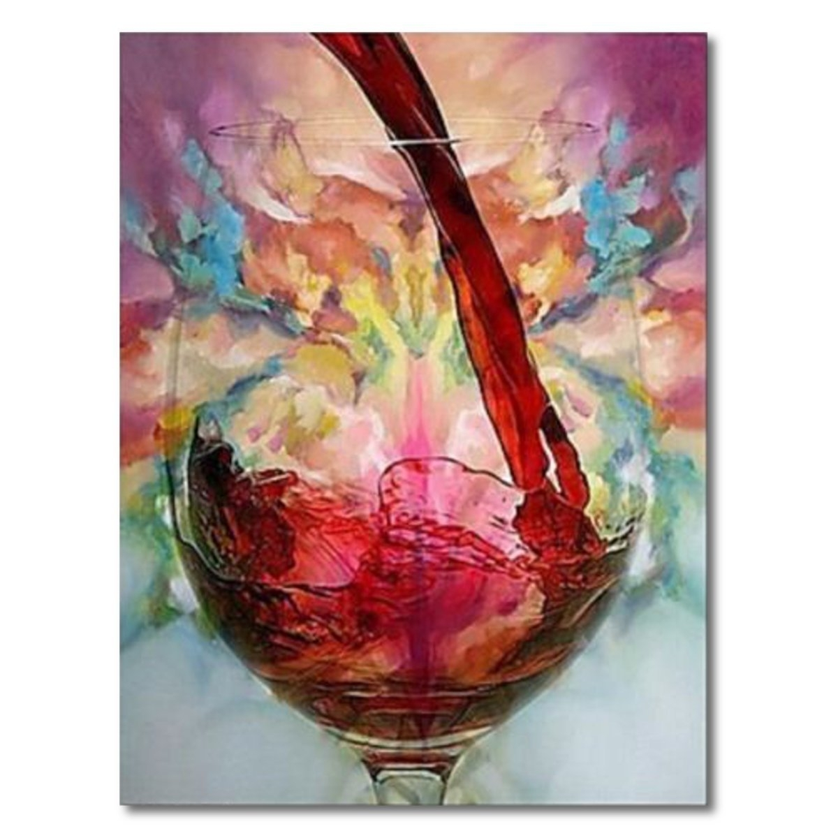 Abstract Red Wine Glass Oil Painting Canvas Wall Art Printed For Current Red Canvas Wall Art (View 7 of 15)