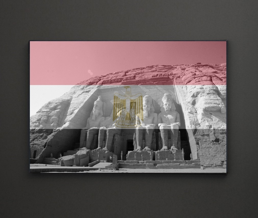 Abu Simbel Egypt Flag A4 Framed/box Canvas A4 A3 A2 A1 Gift Ideas Pertaining To Most Recent Leadgate Canvas Wall Art (View 1 of 15)