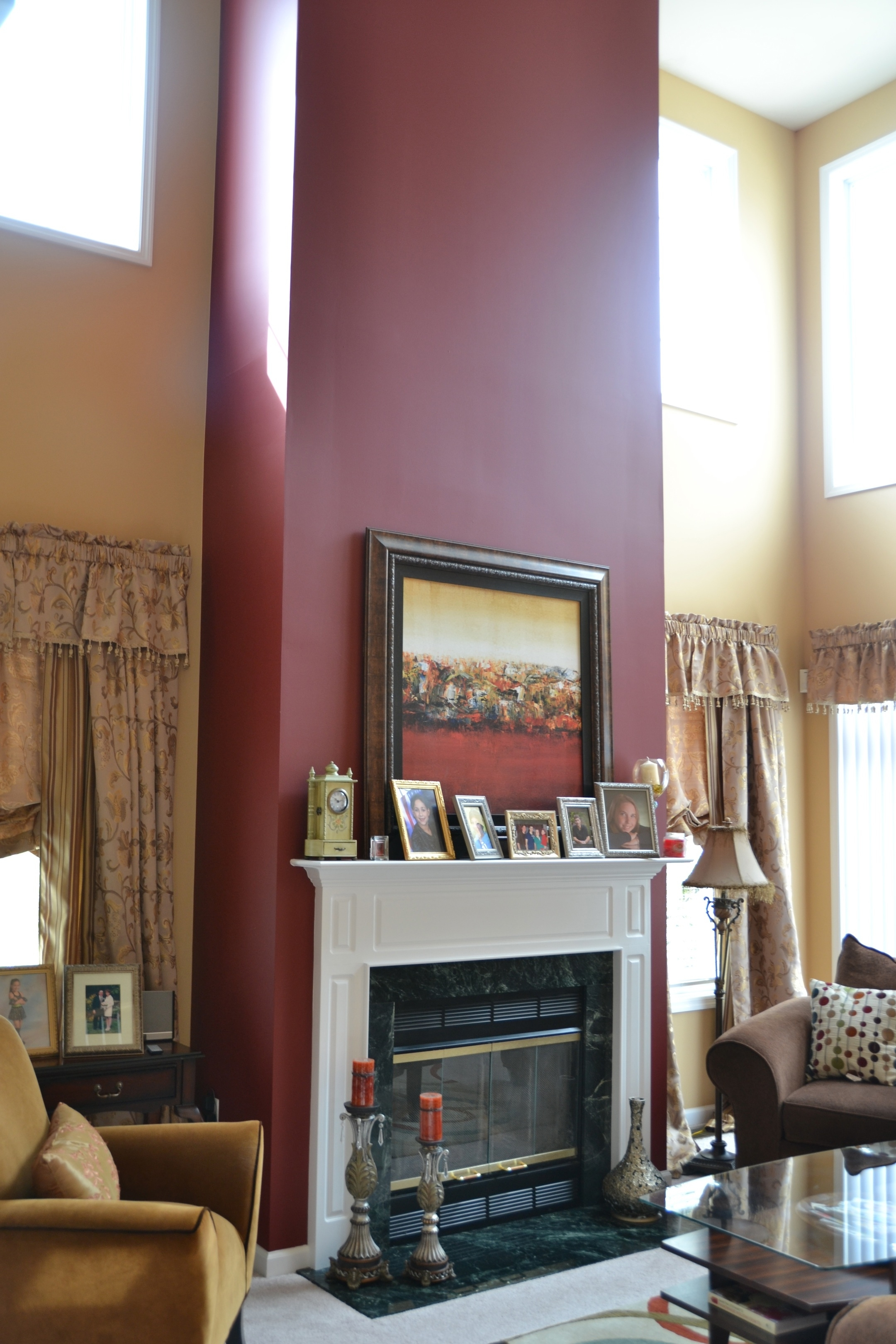 Accent Wall For Mantel/fireplace | |Home| Furnishings | Pinterest With Regard To Recent Fireplace Wall Accents (View 2 of 15)