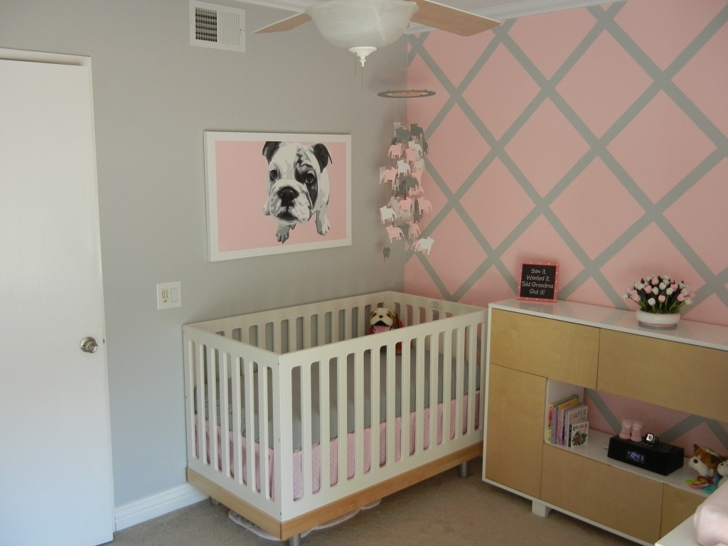 Accent Wall Ideas For Nursery • Walls Ideas In Most Up To Date Nursery Wall Accents (View 2 of 15)