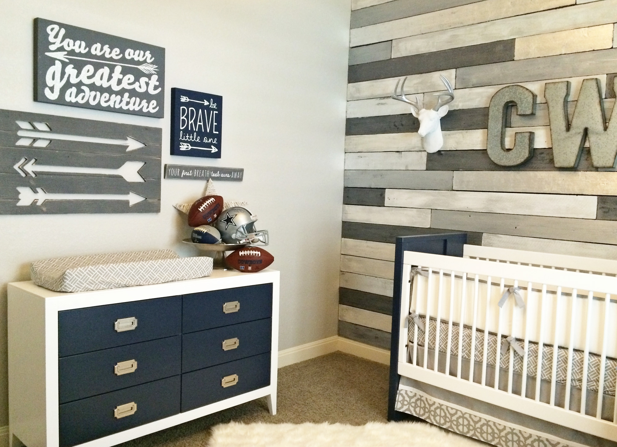 Accent Wall Ideas For Nursery • Walls Ideas Regarding 2018 Nursery Wall Accents (View 7 of 15)